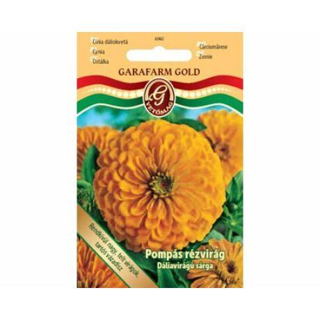 Zinnia tall / Pompás rézvirág dáliavirágú sárga (prémium)