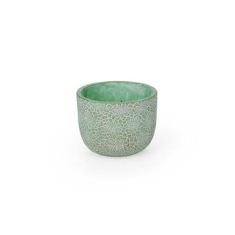 Saigon cement kaspó antikolt zöld 8x6,5cm