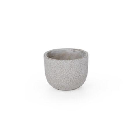 Saigon cement kaspó szürke 8x 6,5cm