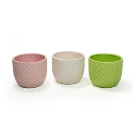 Wienna kerámia kaspó - Rózsaszín - 10,5x8,5