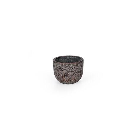 Saigon cement kaspó bronz 13,5x11 cm
