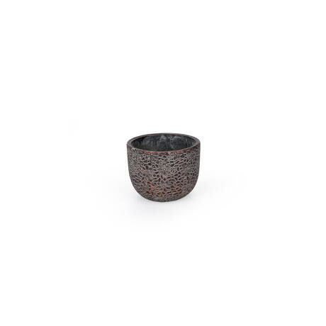 Saigon cement kaspó bronz 16x12,5 cm